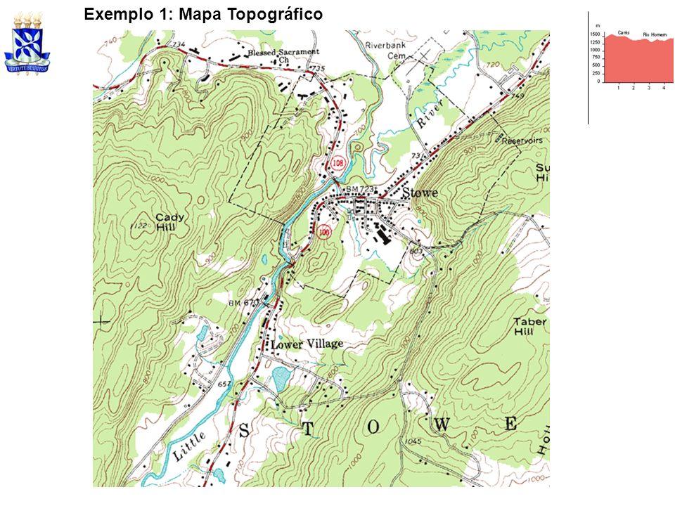 Exemplo 1: Mapa Topográfico