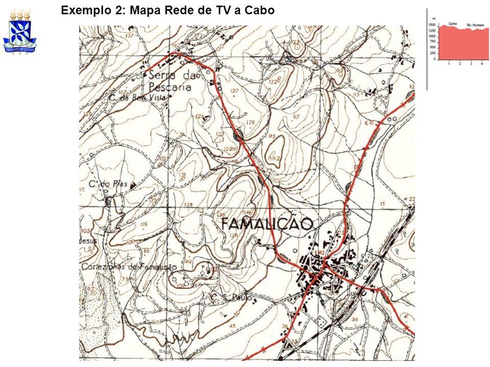 Exemplo 2: Mapa Rede de TV a Cabo
