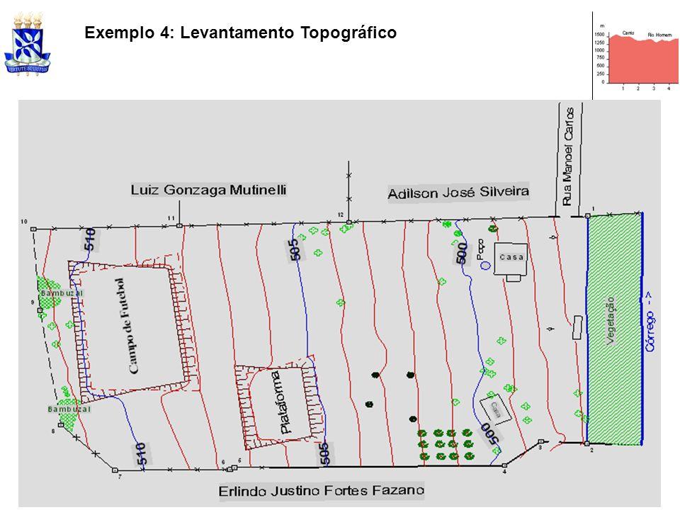 Exemplo 4: Levantamento Topográfico