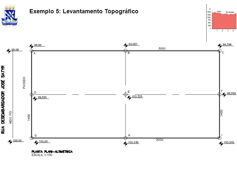 Exemplo 5: Levantamento Topográfico