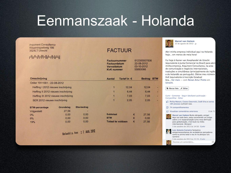 Eenmanszaak - Holanda