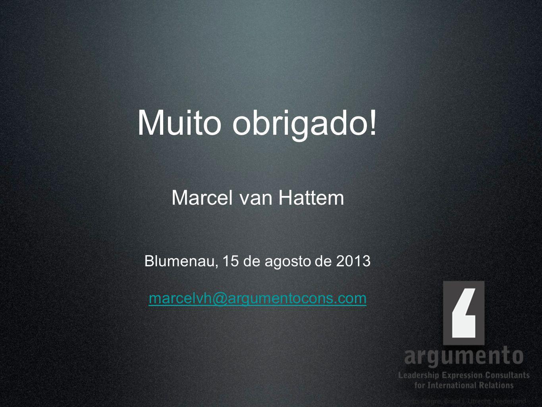Muito obrigado! Marcel van Hattem Blumenau, 15 de agosto de 2013 marcelvh@argumentocons.com marcelvh@argumentocons.com