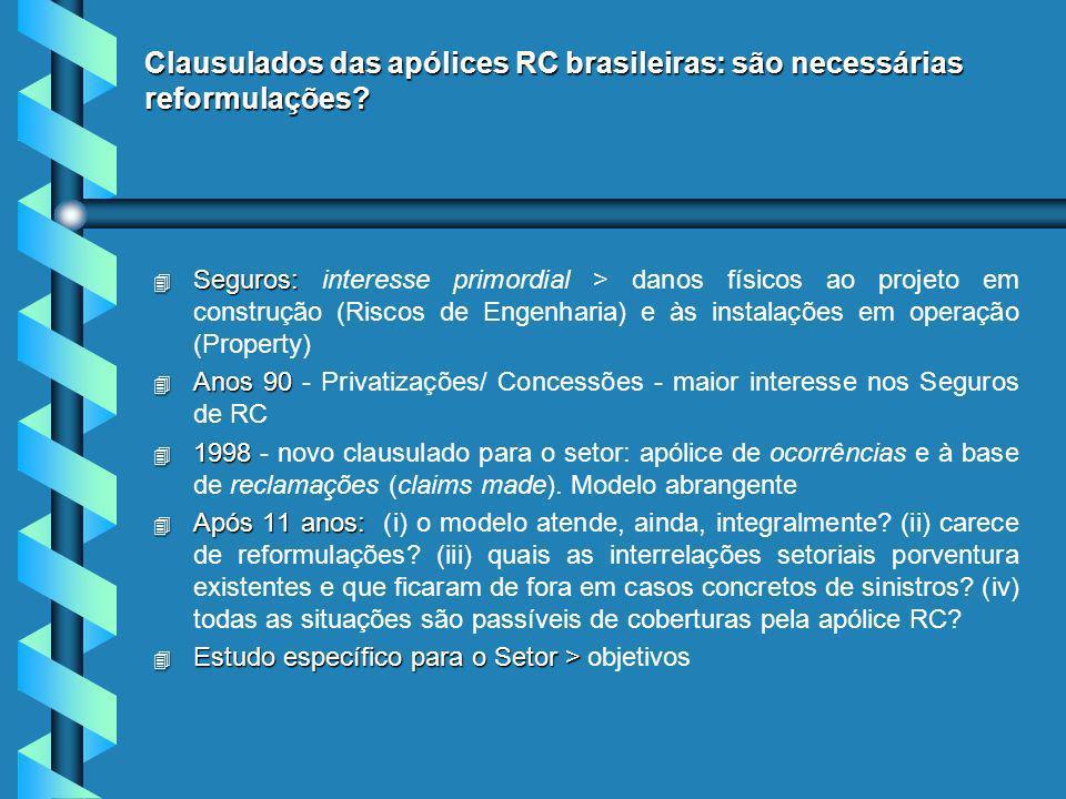 Clausulados das apólices RC brasileiras: são necessárias reformulações.