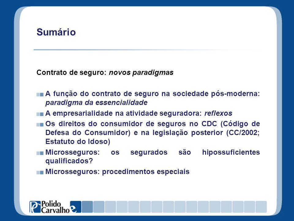 Microsseguros: procedimentos especiais Contratos simplificados: transparentes e objetivos.