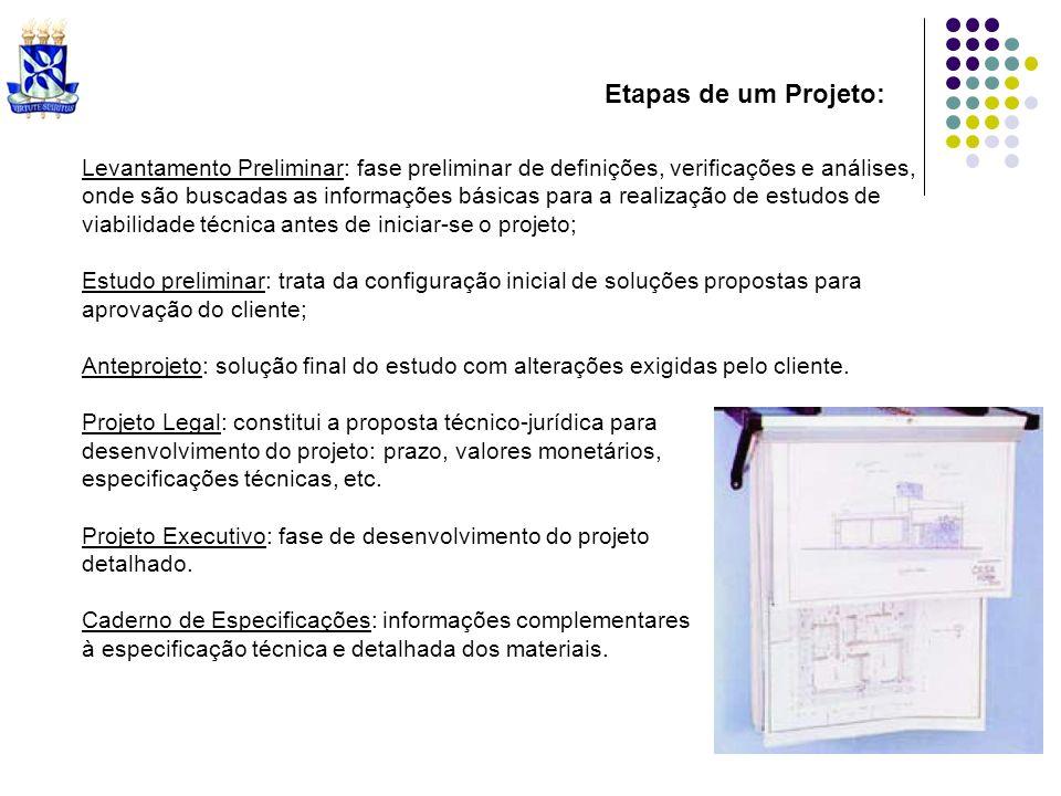 Levantamento Preliminar: fase preliminar de definições, verificações e análises, onde são buscadas as informações básicas para a realização de estudos