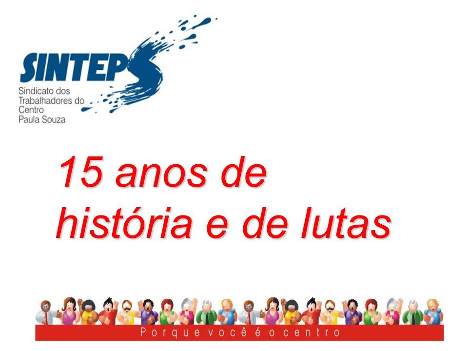 SINTEPS nasce da fusão de duas Entidades O Centro Estadual de Educação Tecnológica Paula Souza, Ceeteps, tem suas origens em 1969.