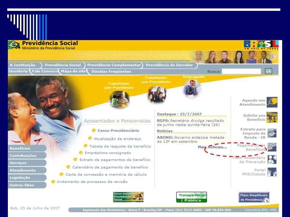 Quanto ao FAP Quanto ao FAP A Previdência disponibilizou na Internet, em 30 de novembro de 2007, o rol das ocorrências relativas ao período de 1o de m