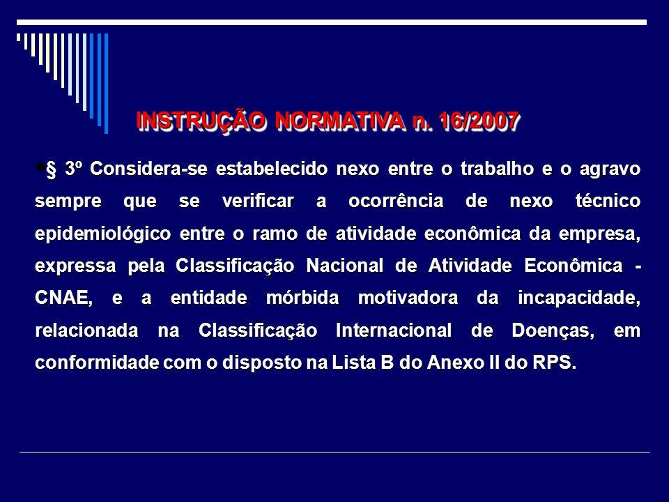 § 2º Os agravos decorrentes dos agentes etiológicos ou fatores de risco de natureza ocupacional da Lista A do Anexo II do RPS, presentes nas atividade