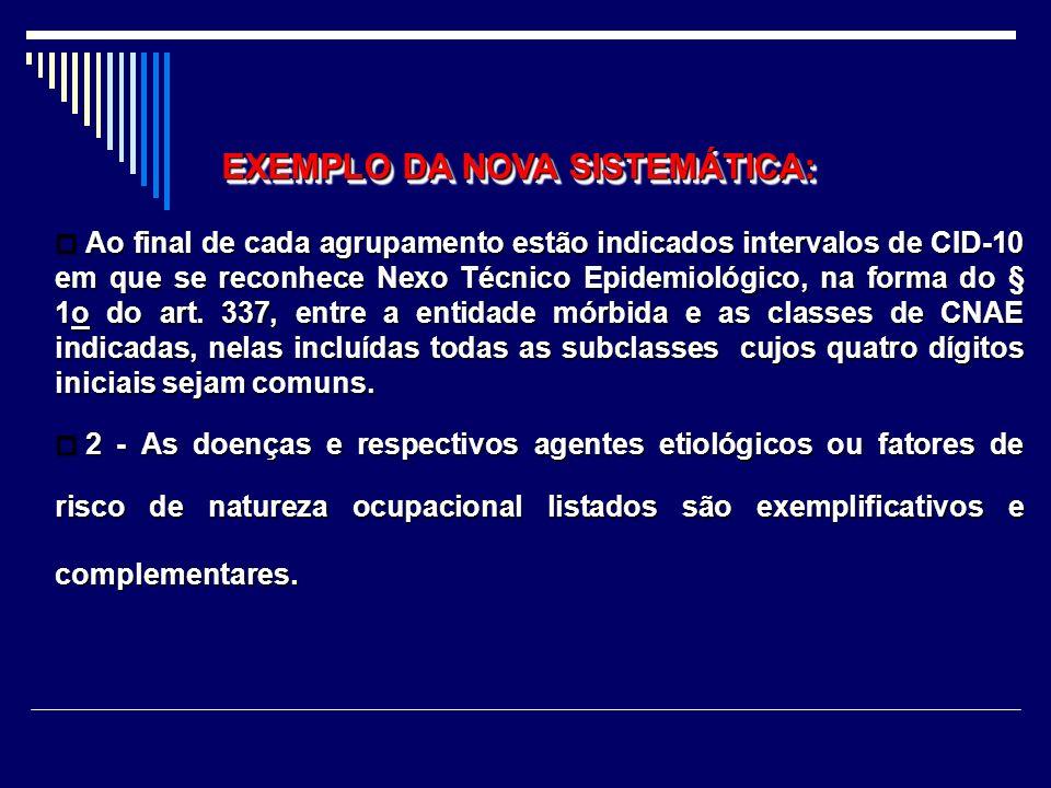 § 3º Considera-se estabelecido nexo entre o trabalho e o agravo sempre que se verificar a ocorrência de nexo técnico epidemiológico entre o ramo de at