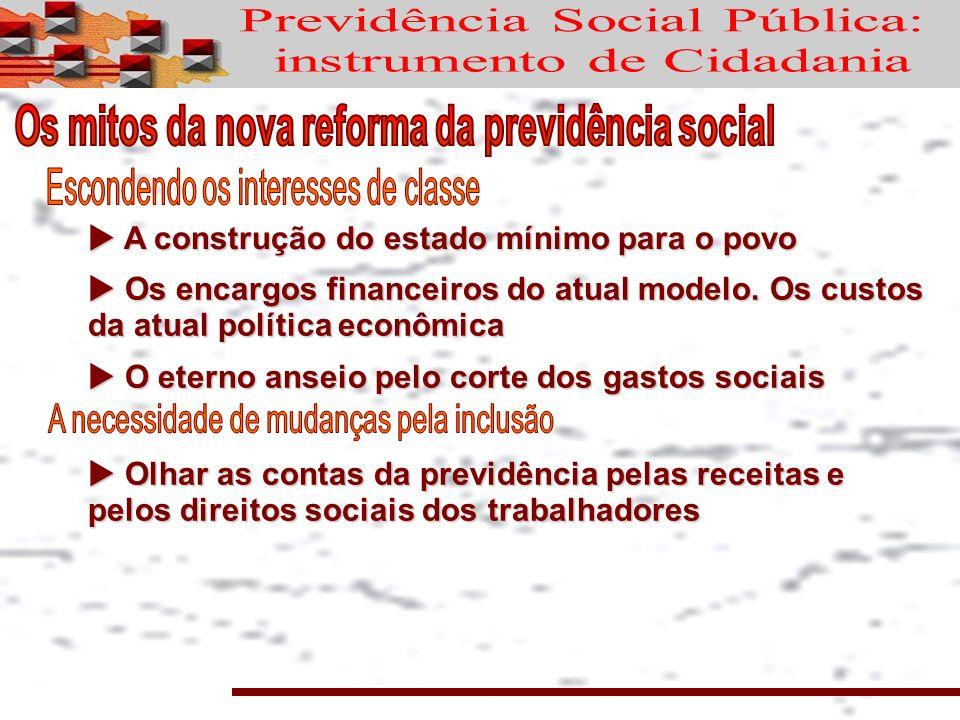 A construção do estado mínimo para o povo A construção do estado mínimo para o povo Os encargos financeiros do atual modelo.