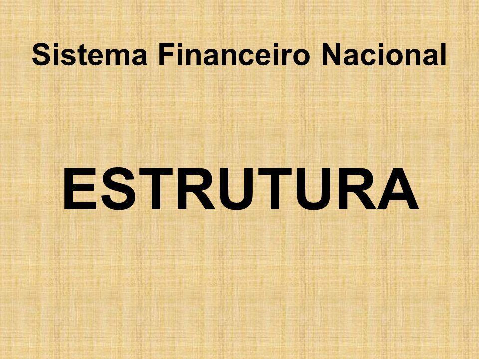 Autoridades Monetárias Conselho Monetário Nacional -Órgão normativo por excelência, não lhe cabem funções executivas.