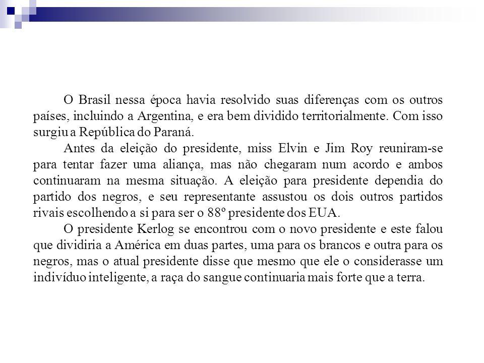 O Brasil nessa época havia resolvido suas diferenças com os outros países, incluindo a Argentina, e era bem dividido territorialmente. Com isso surgiu