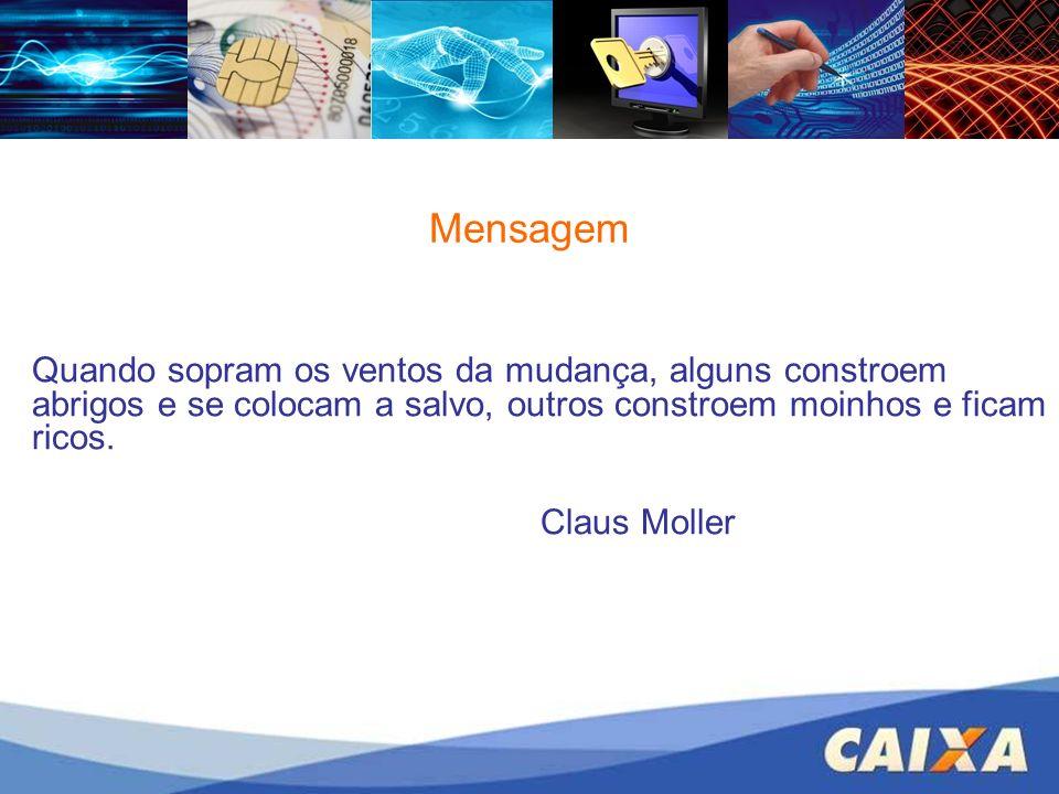 Mensagem Quando sopram os ventos da mudança, alguns constroem abrigos e se colocam a salvo, outros constroem moinhos e ficam ricos. Claus Moller