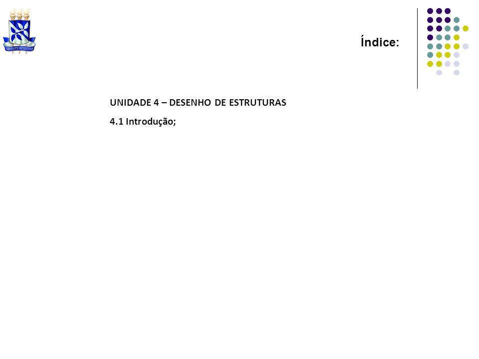 Índice: UNIDADE 4 – DESENHO DE ESTRUTURAS 4.1 Introdução;