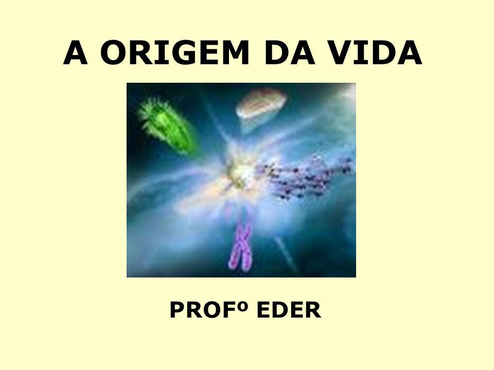 A ORIGEM DA VIDA PROFº EDER