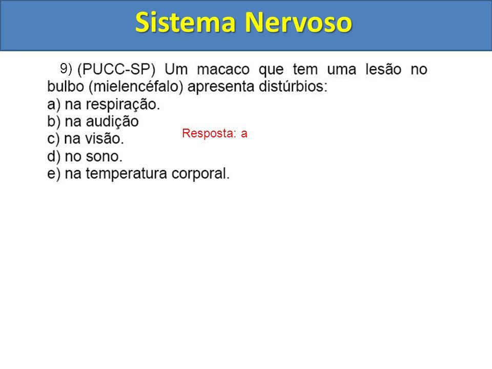 Sistema Nervoso Resposta: a 9)