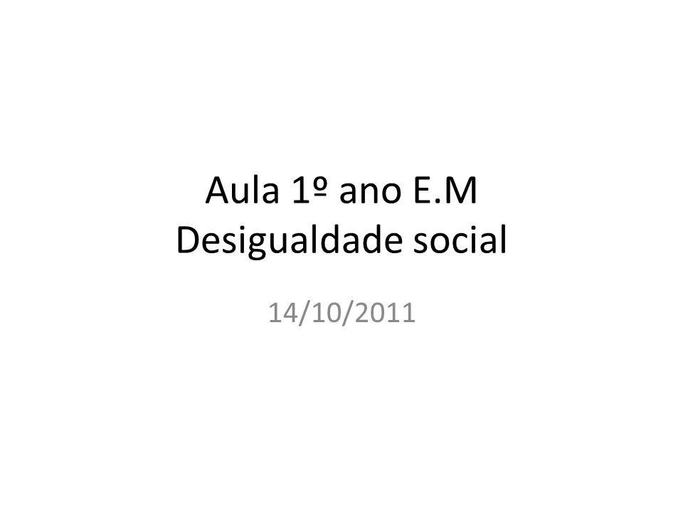 Aula 1º ano E.M Desigualdade social 14/10/2011