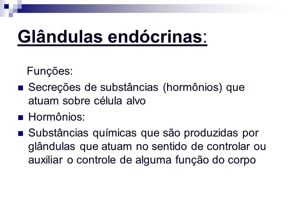 2 tipos de Hormônios: Hormônios locais (atuam em células da vizinhança) ex: acetilcolina; histamina; etc...