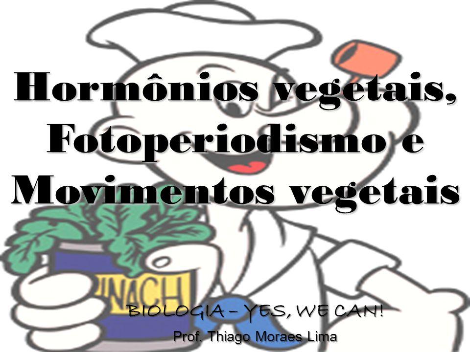 Hormônios vegetais, Fotoperiodismo e Movimentos vegetais BIOLOGIA – YES, WE CAN! Prof. Thiago Moraes Lima