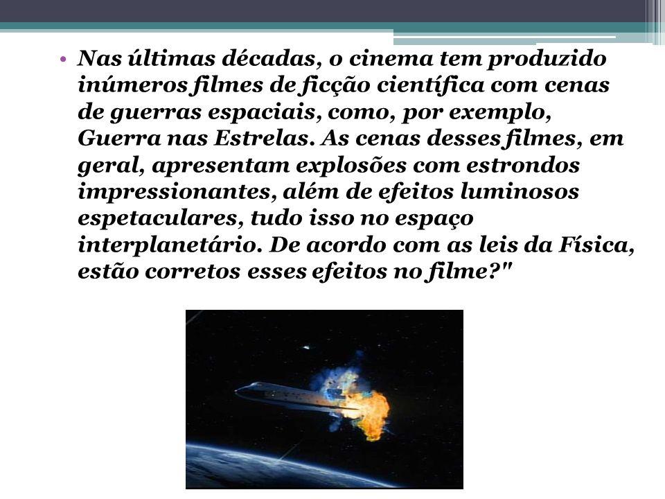 Nas últimas décadas, o cinema tem produzido inúmeros filmes de ficção científica com cenas de guerras espaciais, como, por exemplo, Guerra nas Estrela