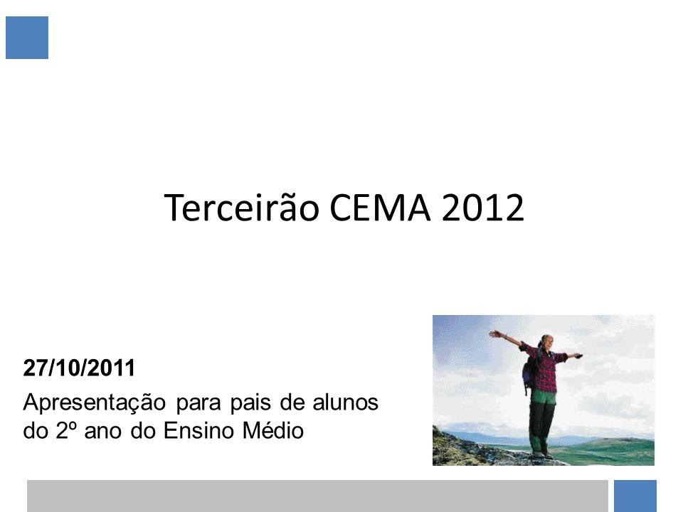 Terceirão CEMA 2012 27/10/2011 Apresentação para pais de alunos do 2º ano do Ensino Médio