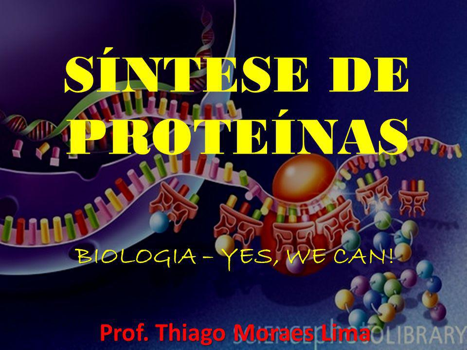 SÍNTESE DE PROTEÍNAS BIOLOGIA – YES, WE CAN! Prof. Thiago Moraes Lima