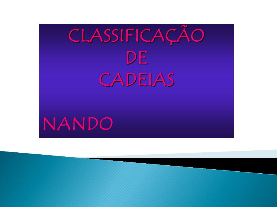 CLASSIFICAÇÃODECADEIAS NANDO