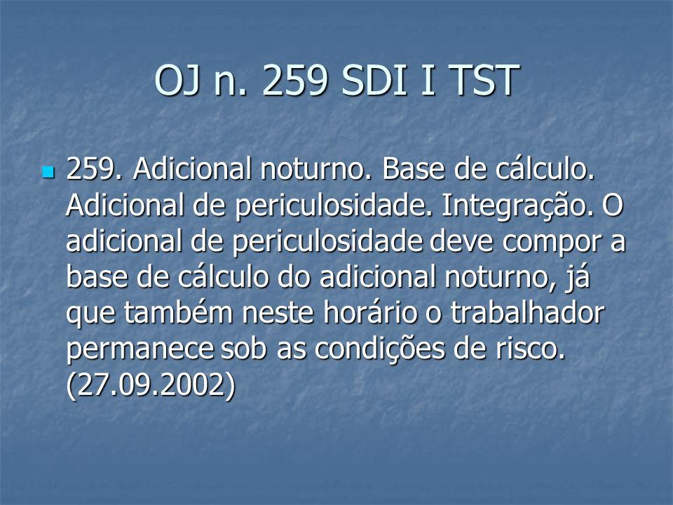 OJ 279 SDI I TST 279.Adicional de Periculosidade.