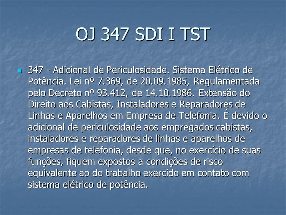 OJ Transitória n.12 TST 12. CSN. ADICIONAL DE INSALUBRIDADE E DE PERICULOSIDADE.