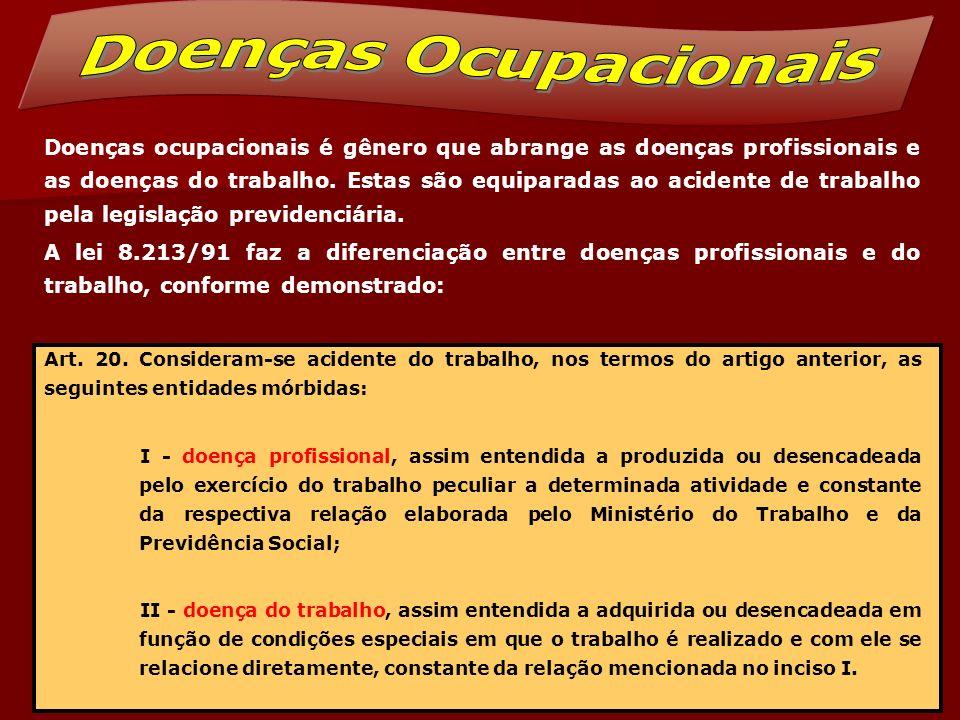A mencionada lista consta do Anexo II, do Regulamento da Previdência Social, aprovado pelo Decreto 3.048/99 e é apenas exemplificativa.