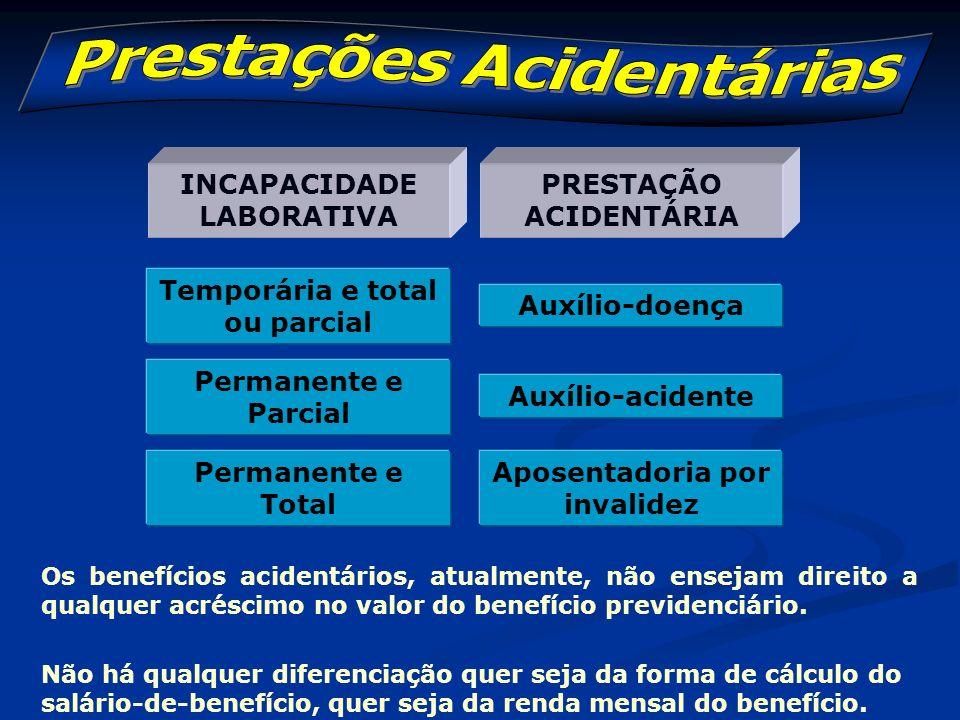 Fato gerador: ocorrência de acidentes do trabalho ou de qualquer natureza Beneficiários: empregado, avulso e segurado especial.