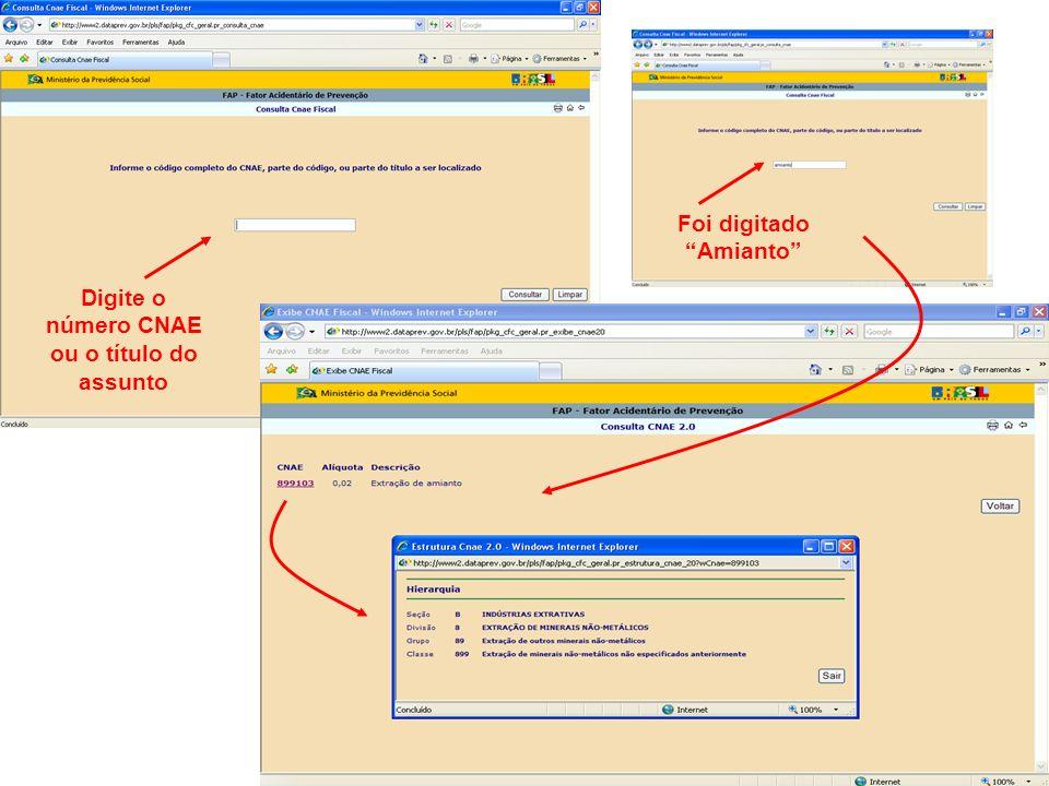 Na tela inicial do FAP, ao clicar em CID abrirá Para descobrir a CID 10 clique nesta linha Lista de Categorias de três caracteres