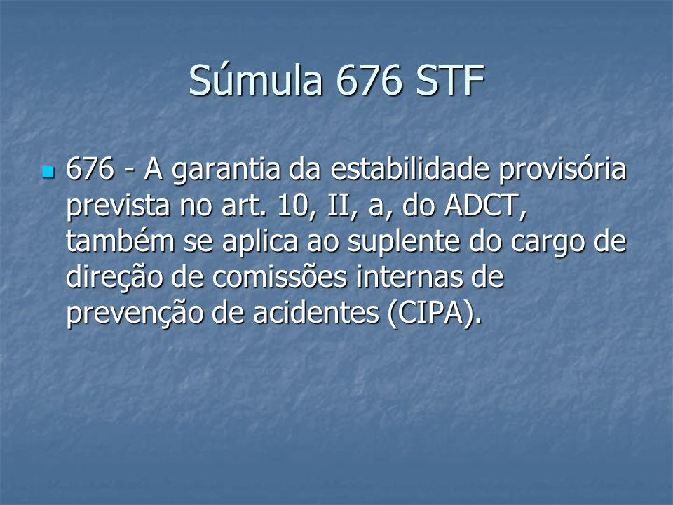 Súmula 339 TST Nº 339 - CIPA.SUPLENTE. GARANTIA DE EMPREGO.