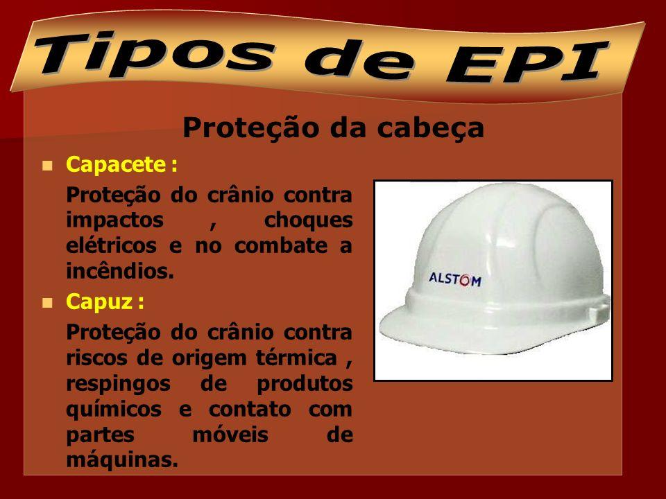 Proteção dos olhos e face Óculos: Proteção contra partículas, luz intensa, radiação, respingos de produtos químicos; Protetor facial: Proteção do rosto