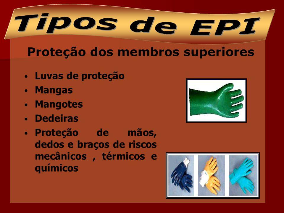 Proteção dos membros inferiores Calçados de segurança Botas e botinas Proteção de pés, dedos dos pés e pernas contra riscos de origem térmica, umidade, produtos químicos, quedas