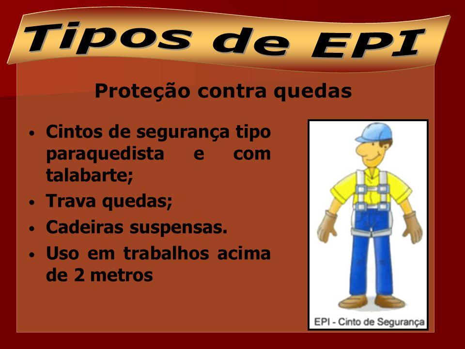 Proteção respiratória Proteção do sistema respiratório contra gases, vapores, névoas, poeiras.