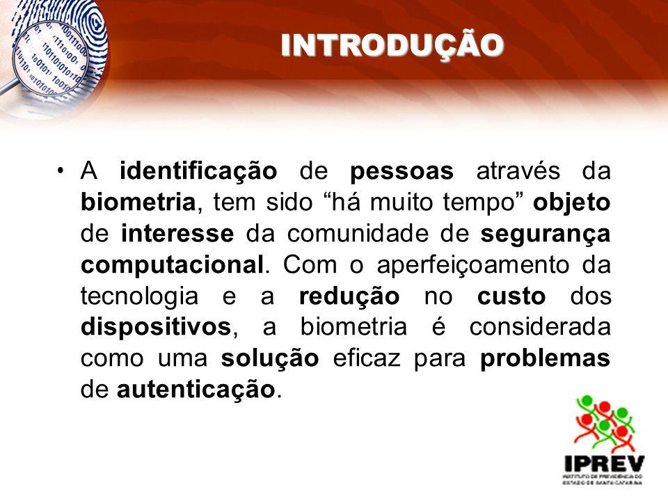 A identificação de pessoas através da biometria, tem sido há muito tempo objeto de interesse da comunidade de segurança computacional. Com o aperfeiço
