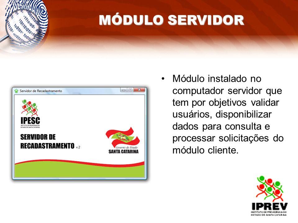 Módulo instalado no computador servidor que tem por objetivos validar usuários, disponibilizar dados para consulta e processar solicitações do módulo