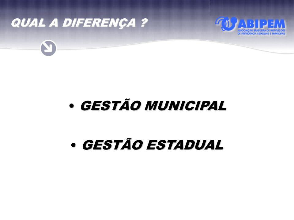 GESTÃO MUNICIPAL GESTÃO MUNICIPAL GESTÃO ESTADUAL GESTÃO ESTADUAL QUAL A DIFERENÇA ?