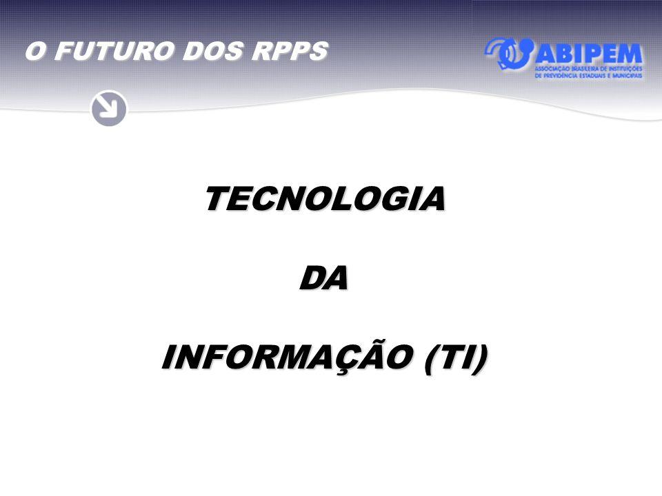 TECNOLOGIA DA INFORMAÇÃO (TI) O FUTURO DOS RPPS