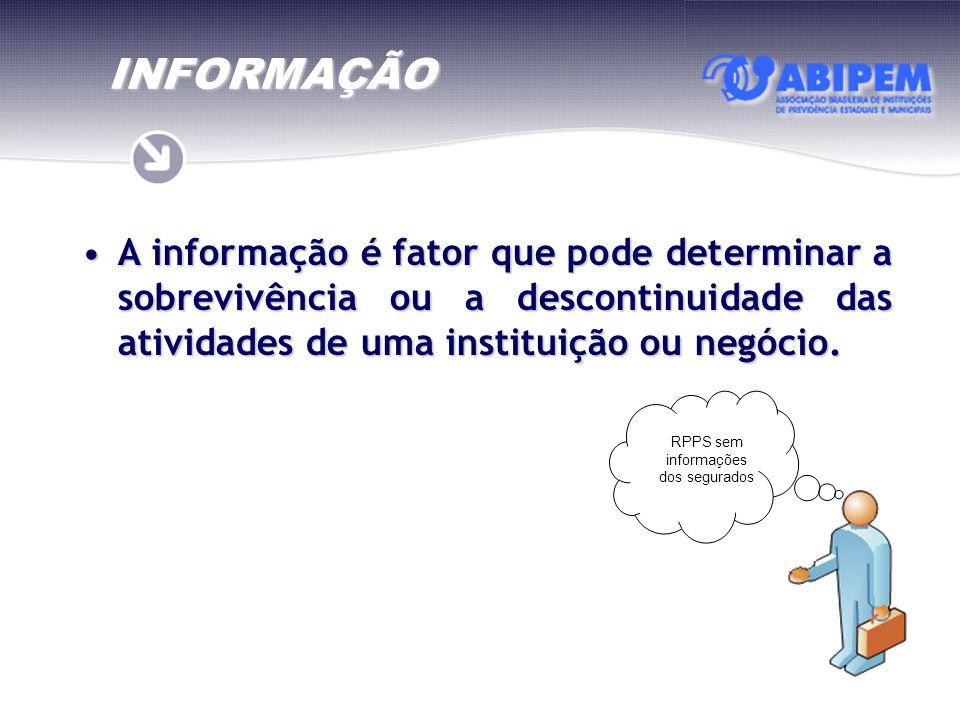 A informação é fator que pode determinar a sobrevivência ou a descontinuidade das atividades de uma instituição ou negócio.A informação é fator que po