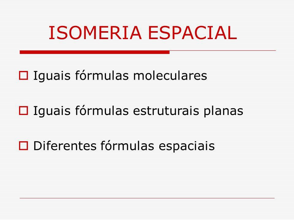 IsômerosEspaciais Diasteroisômeros Enantiômeros Classificação
