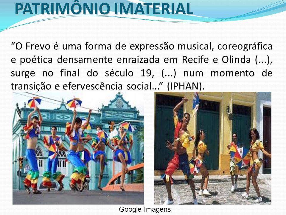 O Frevo é uma forma de expressão musical, coreográfica e poética densamente enraizada em Recife e Olinda (...), surge no final do século 19, (...) num