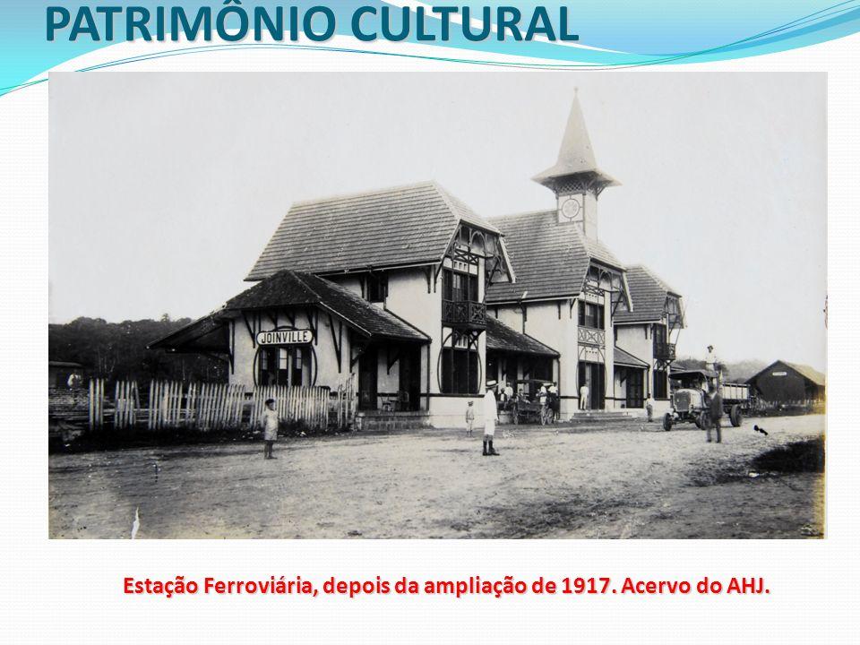 PATRIMÔNIO CULTURAL Estação Ferroviária, depois da ampliação de 1917. Acervo do AHJ.