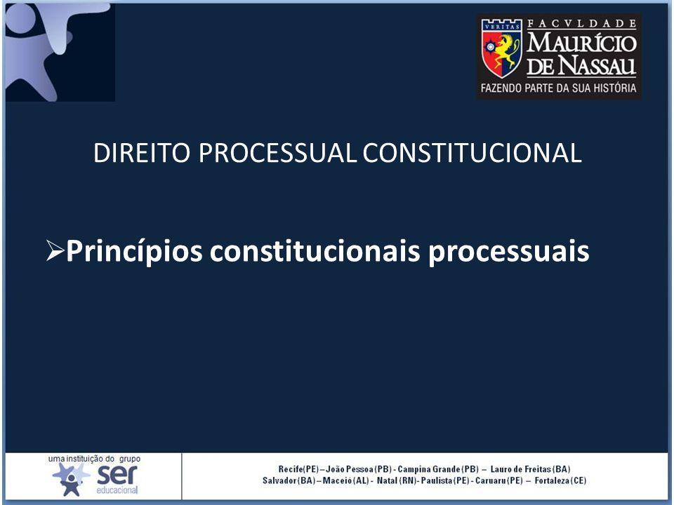 DIREITO PROCESSUAL CONSTITUCIONAL Princípios constitucionais processuais