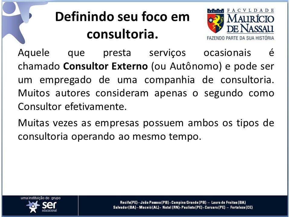 O consultor interno não vem em substituição ao externo, mas sim em complementação.