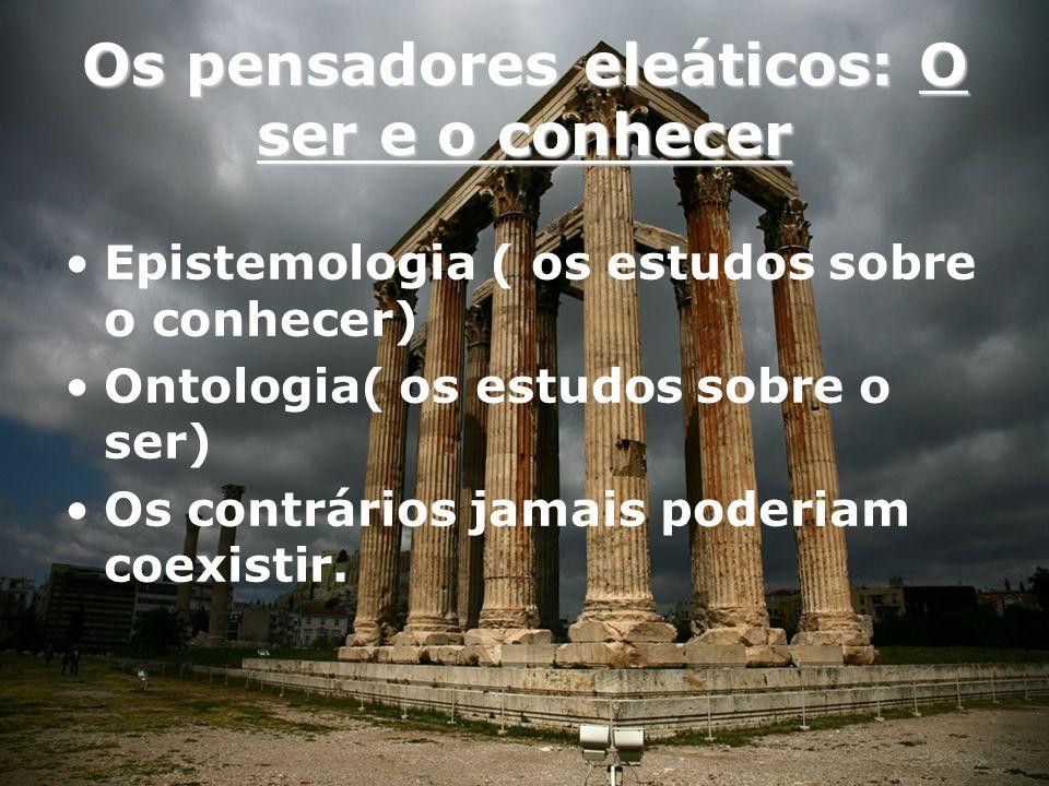 Parmênides de Eléia Defendia a existência de dois caminhos para compreensão da realidade.