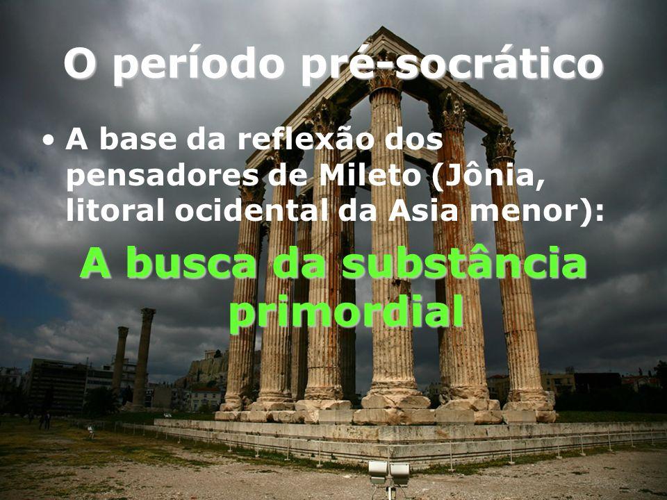 Mileto legou para a humanidade os três primeiros pensadores da história ocidental TALES ANAXIMANDRO ANAXÍMENES