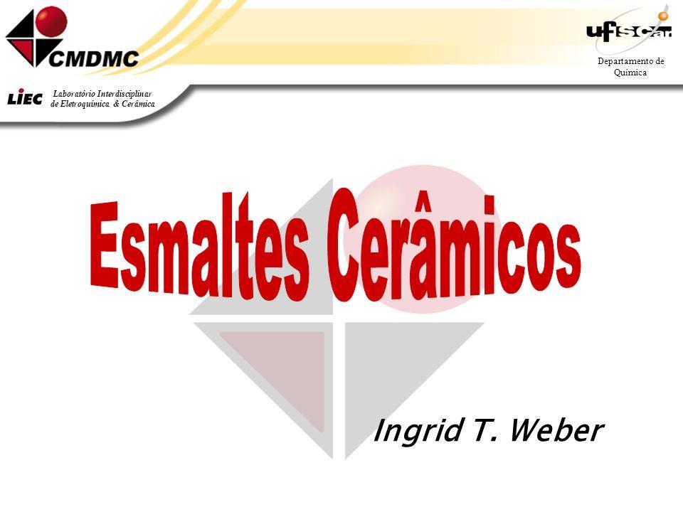 1 Departamento de Química Laboratório Interdisciplinar de Eletroquímica & Cerâmica Ingrid T. Weber