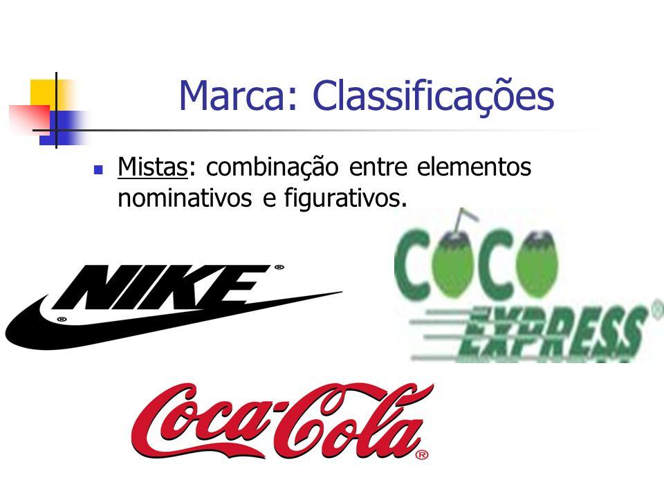 Marca: Classificações Mistas: combinação entre elementos nominativos e figurativos.